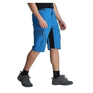 Shorts de Cyclisme pour Homme VTT Pantalon de Cyclisme Court Baggy Amples Imperméable Respirant