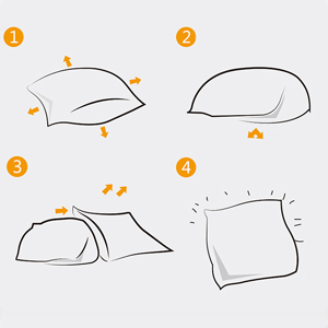 How to fill up the pillowcase with insert?
