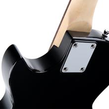 B-WARE Rocktile L-100 E-Gitarre 2 Humbucker Korpus Linde Ahorn Hals Kabel Black