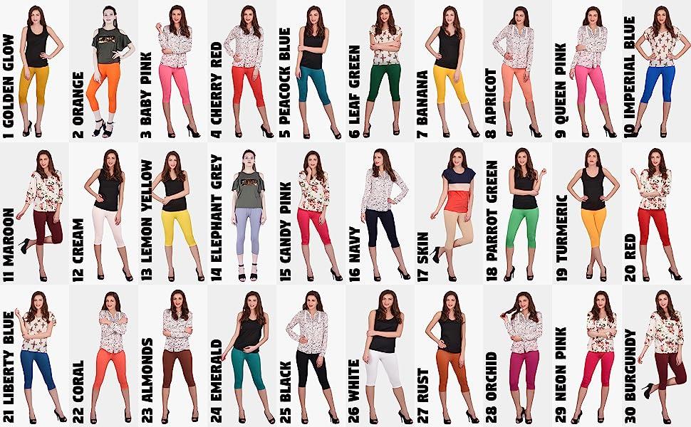 3/4 leggings for women, capri leggings for women, half leggings for women. short leggings for women
