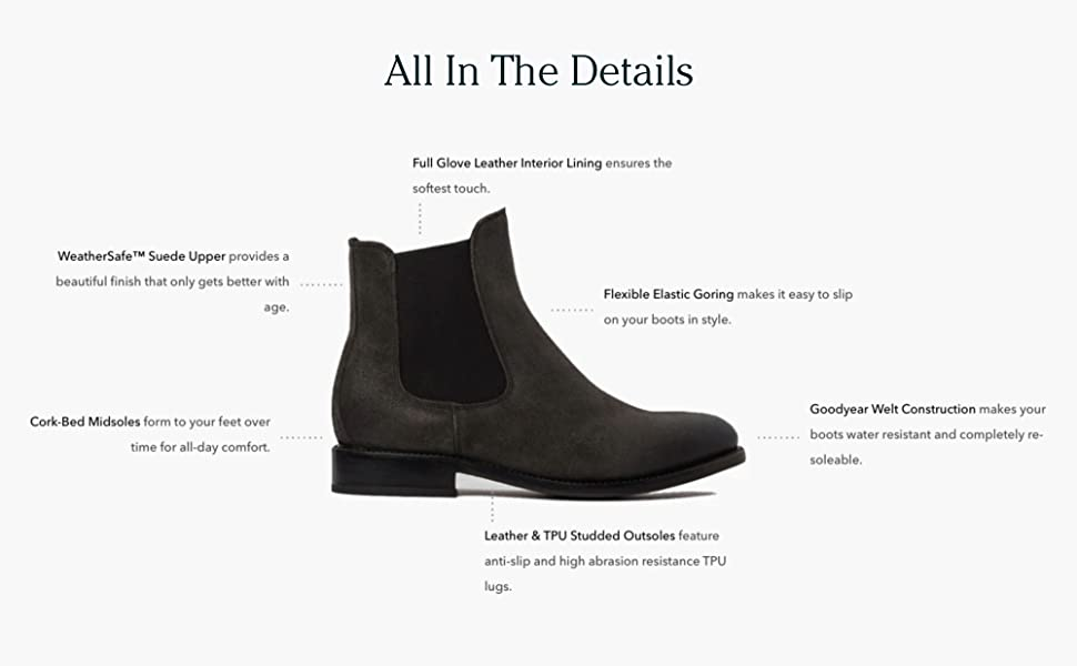Thursday Boot Company Cavalier Men's Chelsea Boot all in the details