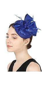 fascinator 1905 royal blue