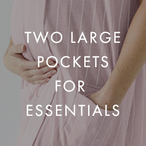 Two Large Pockets for Essentials
