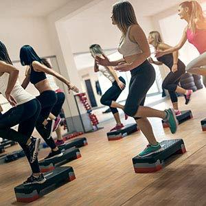 POWRX Step Fitness Profesional aeróbic (89 x 34 cm) - Ajustable en 3 Alturas (15/20/25 cm) - Stepper Ideal para Ejercicios de Body Pump - Superficie ...