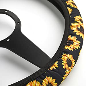 cute design steering wheel cover accesorios para carro car steering wheel cover wheel covers floral