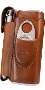 brown cigar case