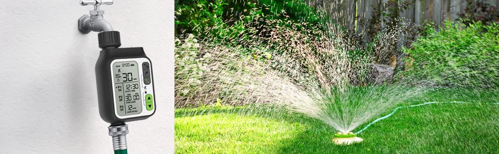 water sprinkler timer for lawn