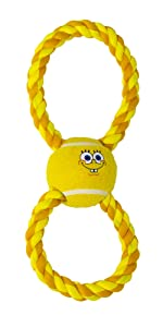 SpongeBob Rope Tennis Ball Toy for Dogs