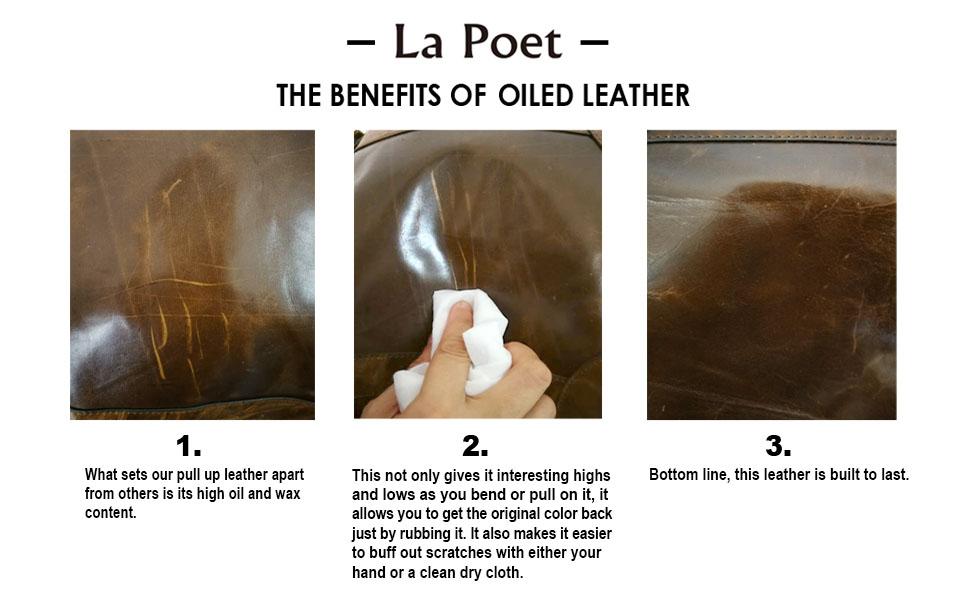 la poet leather satchel