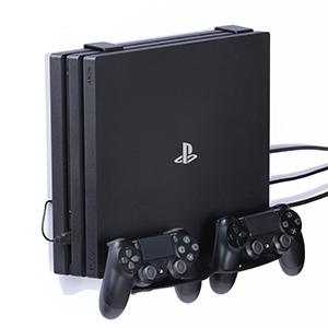 Borangame GameVspaceDuo - Soporte de pared vertical compatible con todos los modelos de PlayStation 4 (First Series, Slim y Pro), con 2 ventiladores y 2 soportes de mando: Amazon.es: Videojuegos