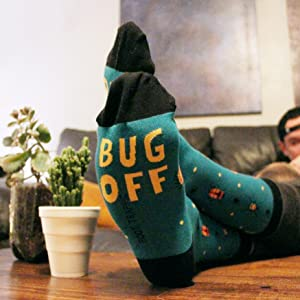 mens novelty funny fun socks bugs outdoors bug insects camping jokes