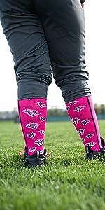 Crazy Diamonds Softball Socks