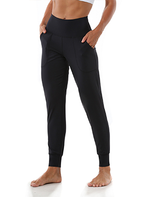 Women's Joggers with Pockets, High Waist Yoga Capri Pants for Running Workout Lounge