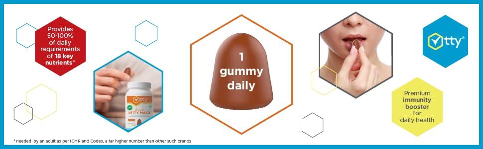 Multi Vitamins, Multi Minerals, Antioxidants gummies for adults