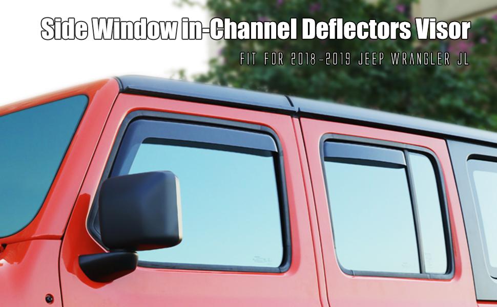 Side Window Deflector for 2018-2019 Jeep Wrangler JL