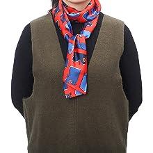 Edge scarf headband used as neck scarf