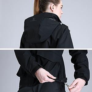 Detachable hood&Adjustable hem