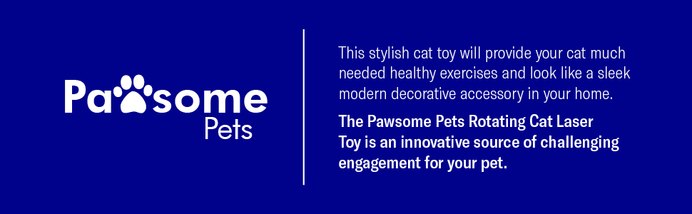 Pawesome pets quality pet toys for cats dogs rotating cat laser
