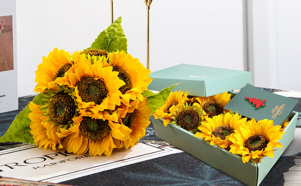 artificial sunflowers gift