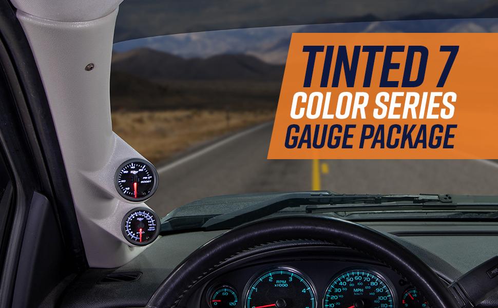 Tinted 7 Color Series Gauge Package