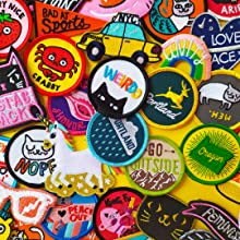 Badge Bomb Embroidered Patches