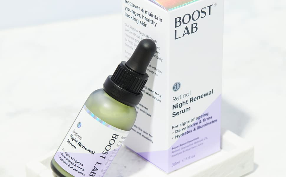 Boost Lab Retinol Night Renewal Serum Cream Moisturiser