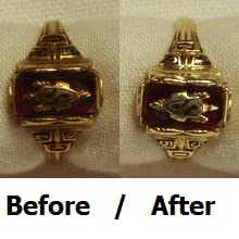 Before After class ring