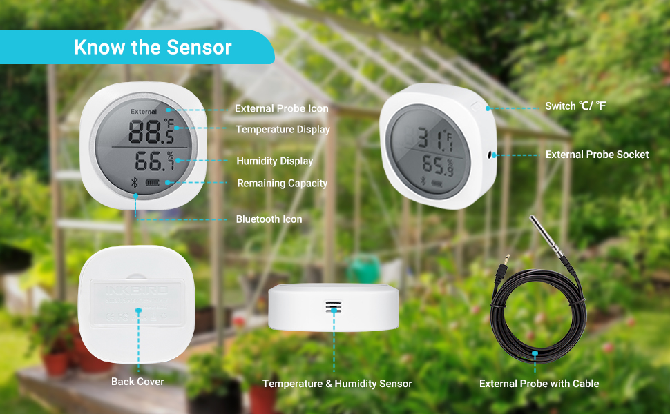Bluetooth Temperature and Humidity Monitor