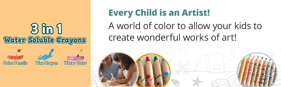 Every Child Is an Artist! A world of color to allow your kids to create wonderful works of art!