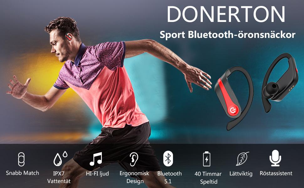 Trådlösa öronproppar Bluetooth-hörlurar