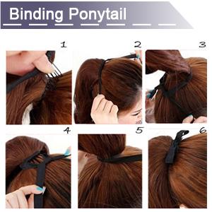 binding ponytail