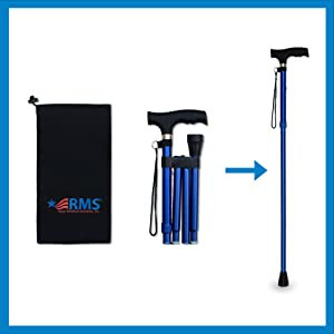 Travel bag, Travel Cane, Expanded into Tall Cane