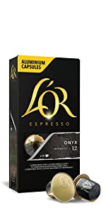 L'Or, Lor, LOr, Variety Pack, espresso, coffee, capsules, 50 pack, 50 capsules, onyx