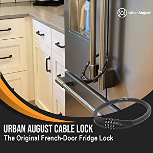 urban august cable combination lock