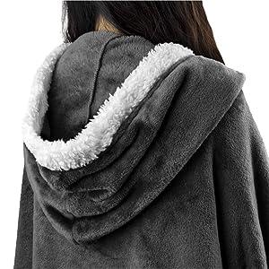 Blanket with hood cloak shawl cape
