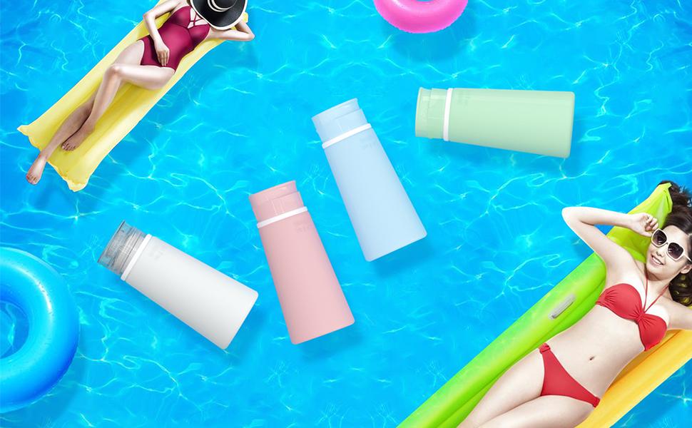 100ml travel bottles set for shampoo,lotion and gel