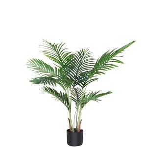 palmera artificial altura 70 cm f/ácil de limpiar decoraci/ón de palmera dorada hjh OFFICE Planta artificial Areca verde