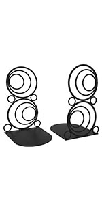 Black Circle Bookends