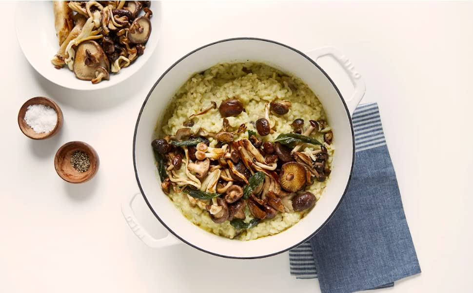 Risotto in a dutch oven