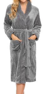 Soft and Warm Fleece Bathrobe