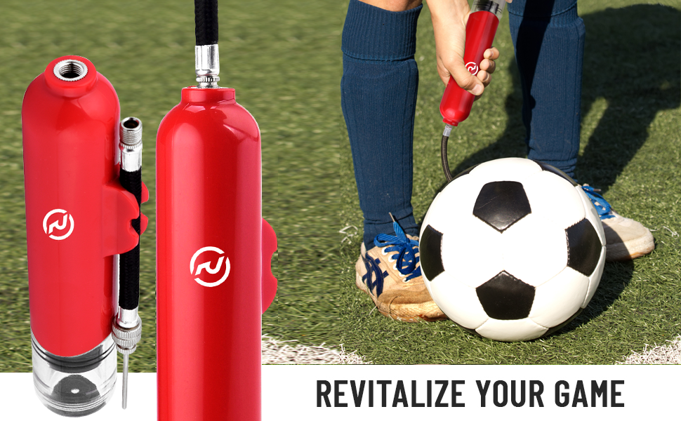 revitalize your game with small and lightweight air inflator ball pump from revivl gold anytime