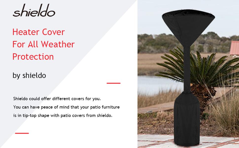 IYUNDUN Patio Heater Cover,Top Heavy Duty Waterproof Veranda Head Cover,600D Coated Oxford,For Pyramid Heaters,86X65cm