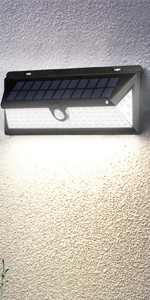 90LED ソーラー 防水 屋外 照明 防犯ライト 明暗センサー 3つ点灯モード 自動点灯 明るい 庭 玄関 駐車場