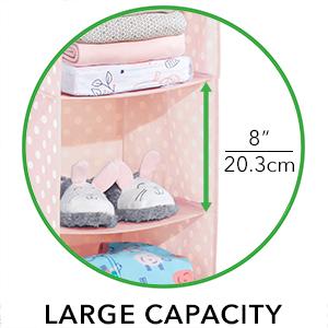 Large Capacity Shelf Height