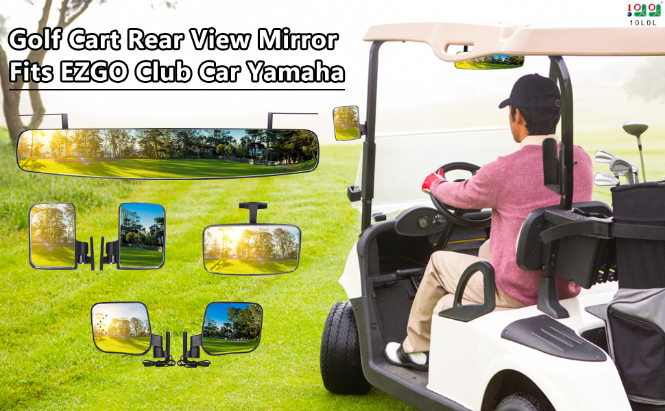 golf cart rear view mirror
