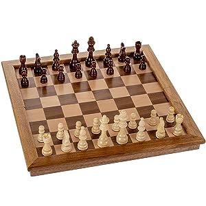 Large premium wood chess board