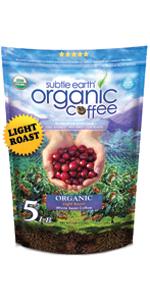 5 LB Subtle Earth Organic Coffee - Light Roast