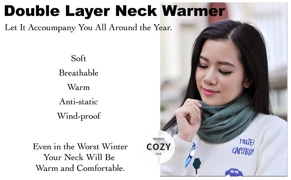 Fleece Thermal Neck Warmer/Neck Gaiter Face Scarf/Face Cover Winter Motorcycle Ski Face Mask