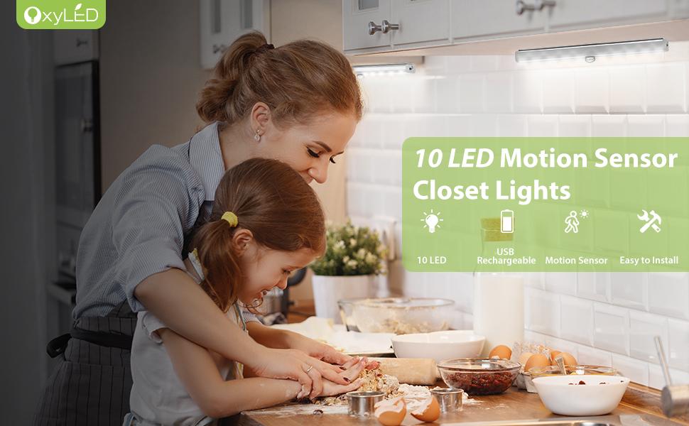 USB Rechargeble Motion Sensor Closet Lights