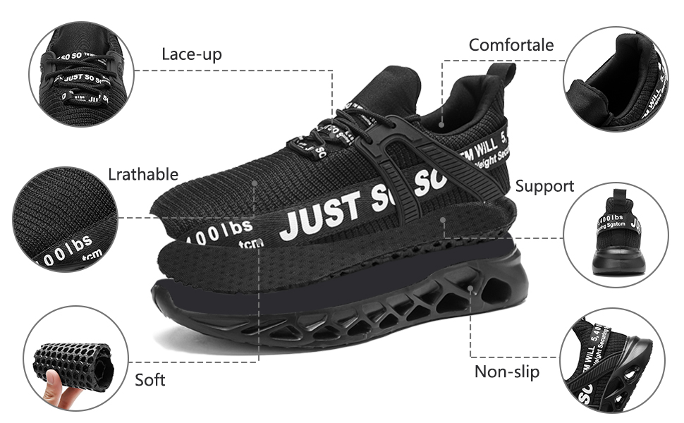 Women Walking Sneakers Lace Up Comfortable Sport Running Shoes BS